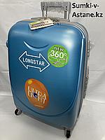 """Средний пластиковый дорожный чемодан на 4-х колесах""""Longstar"""".Высота 63 см, ширина 41 см, глубина 25 см., фото 1"""