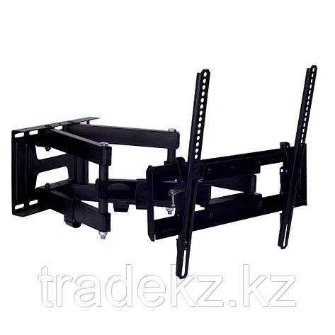 """Кронштейн поворотный для телевизора Kromax PIXIS-L black, до 50 кг, до 65"""", фото 2"""