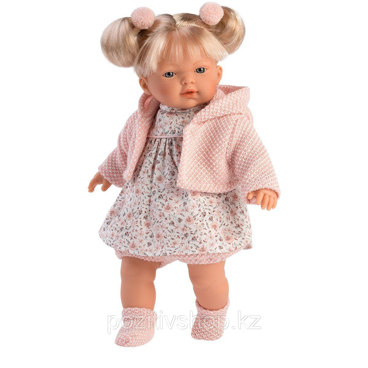 Кукла Llorens Роберта 33 см. блондинка в светло-розовом жакете - фото 1