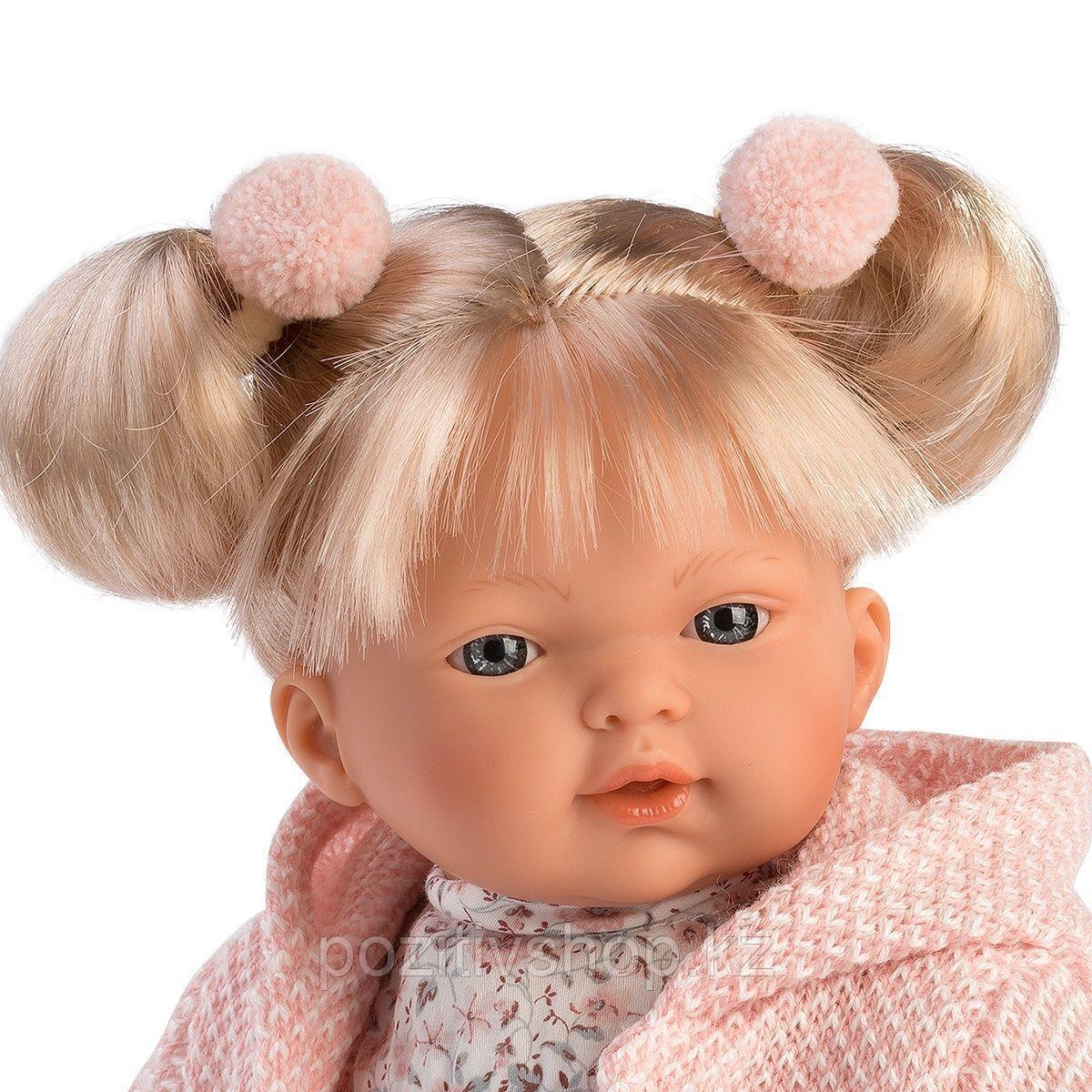 Кукла Llorens Роберта 33 см. блондинка в светло-розовом жакете - фото 2