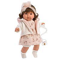 Кукла Llorens Пиппа 42 см., брюнетка в розовом жакете