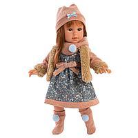 Кукла Llorens Мартина 40 см. Шатенка в меховом жилете