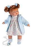 Кукла Llorens Лея 33см, шатенка в голубом кардигане