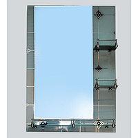 Зеркало настенное, 50см х 70см, 3-полки,2-х слойное