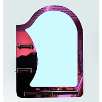 Зеркало настенное, 60см х 80см, 3-полки,2-х слойное