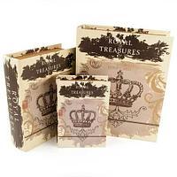 Набор деревянных шкатулок-книг «Фолиант» [комплект из 3 шт.] (Сокровища короны)
