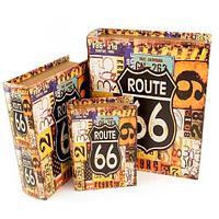 Набор деревянных шкатулок-книг «Фолиант» [комплект из 3 шт.] (Route 66)