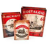Набор деревянных шкатулок-книг «Фолиант» [комплект из 3 шт.] (Nostalgic)