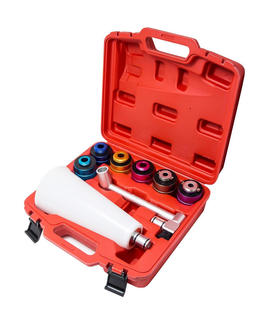 Forsage Воронка для заливки масла в двигатель а/м с металлическими адаптерами, 8 предметов, в кейсе Forsage