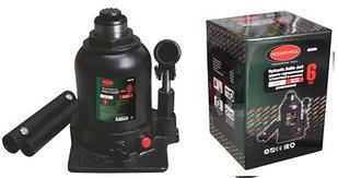 ROCKFORCE Домкрат бутылочный двухштоковый с клапаном  6т (высота подхвата - 215мм, высота подъема - 485мм, ход