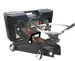 ROCKFORCE Домкрат подкатной  2 т с вращающейся ручкой 180° и резиновой накладкой (h min 140мм, h max 340мм,вес