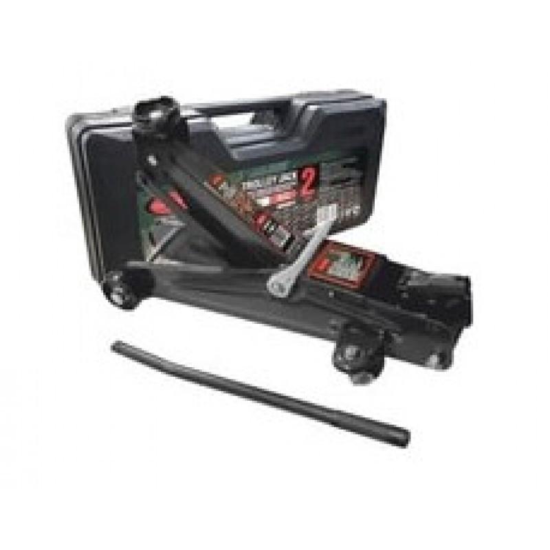 ROCKFORCE Домкрат подкатной  гидравлический 2 т(h min 135мм, h max 385мм) с резиновой накладкой  в кейсе