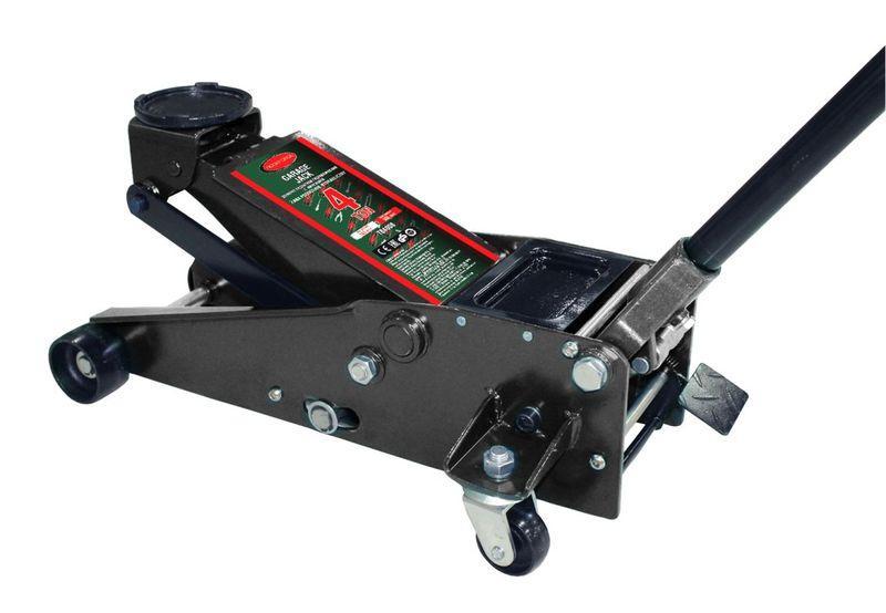 ROCKFORCE Домкрат подкатной  гидравлический двухштоковый 4т с 3-мя уровнями фиксации(h min 140мм, h max 508мм)