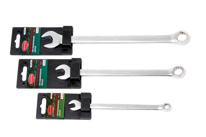 ROCKFORCE Ключ комбинированный удлиненный 16мм, на пластиковом держателе ROCKFORCE RF-75516L 27318