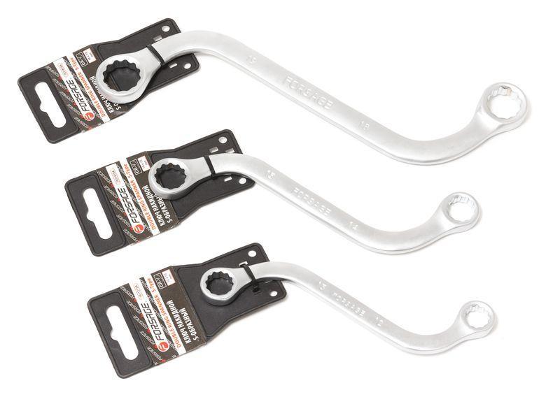 Forsage Ключ накидной S-образный 10х11мм, на пластиковом держателе Forsage F-7611011A 27287