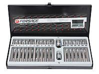 Forsage Набор бит с битодержателями 40 предметов (10мм)(75/30мм:T20-T55,H4-H12,M5-M12) в пластиковом кейсе