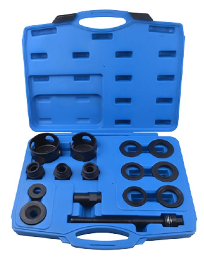 ROCKFORCE Набор инструментов для замены ступичных подшипников 15 предметов (внешние диаметры: 62, 64, 66, 68,