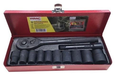 "WMC tools Набор инструментов ударных 12 предметов 1/2"" (6гр.)(10-24мм) WMC TOOLS 4122-5 47312"