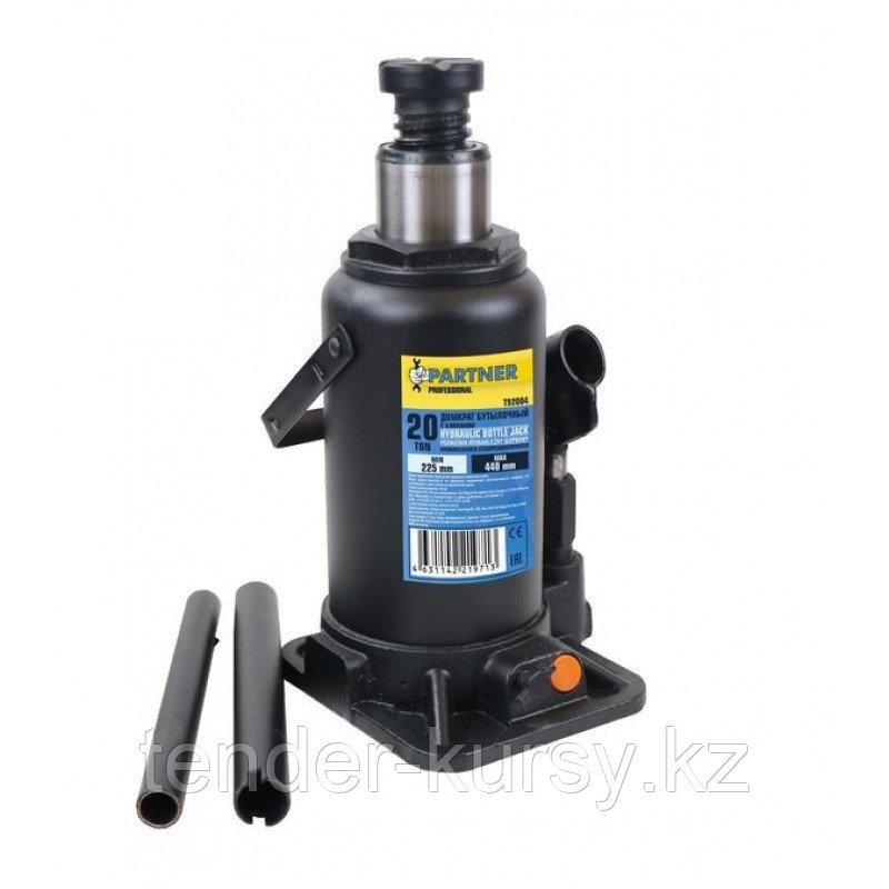 Partner Домкрат бутылочный 20т с клапаном (h min 225мм, h max 440) Partner PA-T92004 47687
