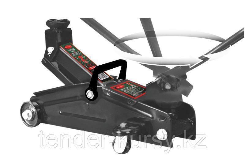 ROCKFORCE Домкрат подкатной гидравлический 2т с вращающейся ручкой (h min 140мм, h max 340мм) ROCKFORCE