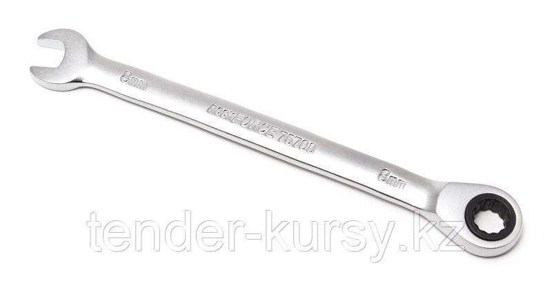 ROCKFORCE Ключ комбинированный трещоточный 8мм ROCKFORCE RF-75708 10553