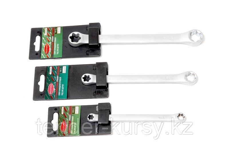 ROCKFORCE Ключ накидной Е-профиль Е6хЕ8, на пластиковом держателе ROCKFORCE RF-7560608 27300