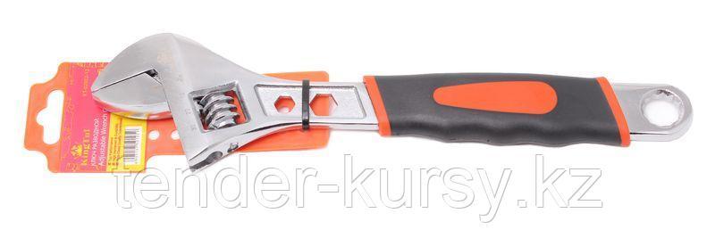 Kingtul Ключ разводной  с прорезиненной рукояткой и профильными отверстиями в корпусе под гайки (6гр.-9,13мм;