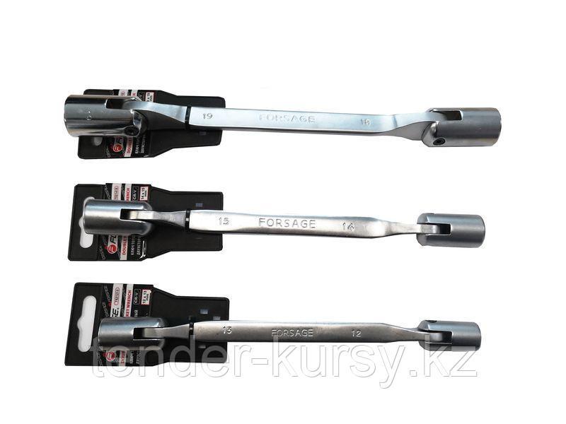 Forsage Ключ торцевой шарнирный двухсторонний 16х17мм на пластиковом держателе Forsage F-7521617 29691