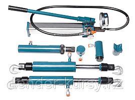 Forsage Комплект гидравлического оборудования прямого и обратного действия 4т, 5т, 10т в металлическом кейсе