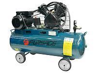 Forsage Компрессор 100 л 2-х поршневой с ременным приводом (2.2кВт, ресивер 100л, 250л/м, 220В) Forsage