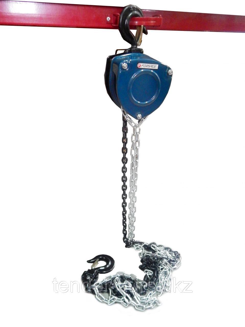 Forsage Лебедка механическая подвесная  с лепестковым механизмом фиксации цепи натяжения, 10т (длина цепи -