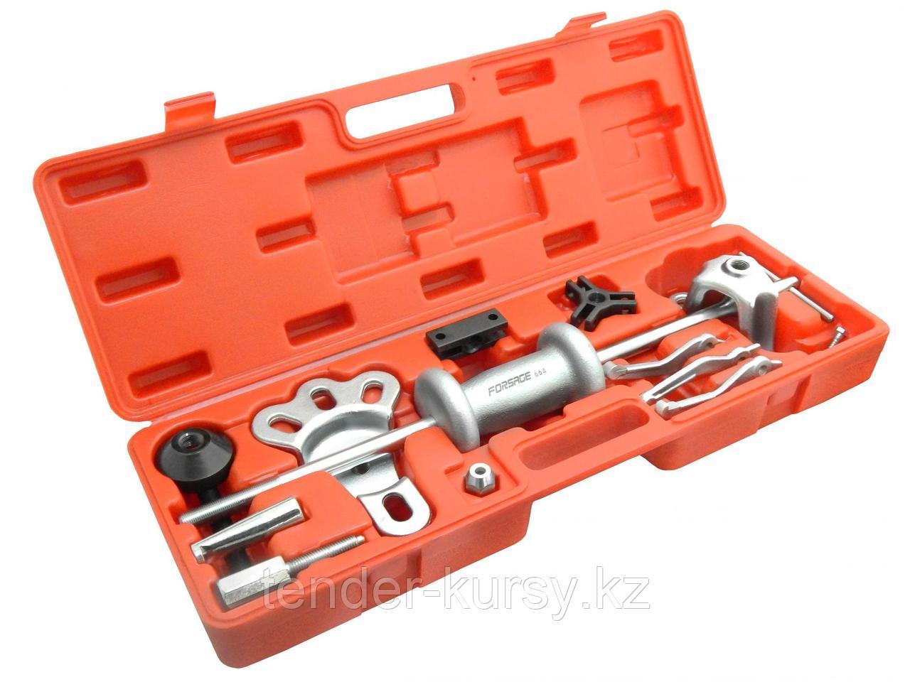 Forsage Молоток обратный для съема подшипников в наборе со сменными лапами (17 предметов) в кейсе. Forsage