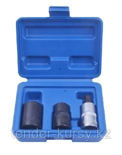 """ROCKFORCE Набор головок для обслуживания тормозной системы автомобиля  1/2"""" 3 предмета(14мм, 19мм - 5гр., М10"""