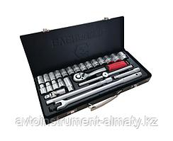 Everforce Набор инструментов 26 предметов 1/2'' (6гр.)(10-32мм), в металлическом кейсе EVERFORCE EF-1026 46753