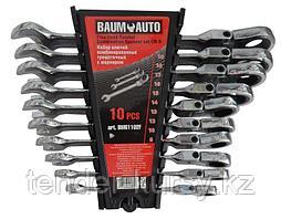 BaumAuto Набор ключей комбинированных трещоточных с шарниром 10 предметов (8,10,12-19мм) в пласт. держателе
