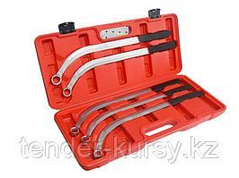 Partner Набор ключей накидных удлиненных изогнутых (L-470мм; 13,15, 16, 17, 19мм) 5 предметов, в кейсе Partner