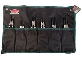 ROCKFORCE Набор съемников стопорных колец, 6 предметов(L-185ммх4шт,L-225ммх2шт), на полотне ROCKFORCE RF-5063A