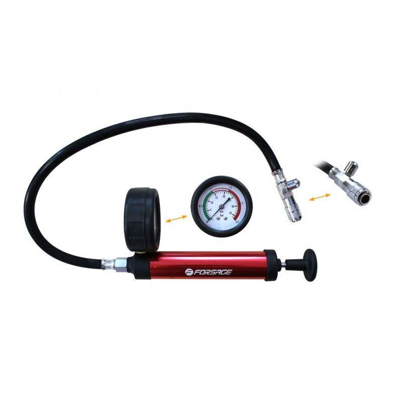 Forsage Насос ручной с манометром для тестирования герметичности систем охлаждения(0-2,5bar) Forsage F-922G1-P