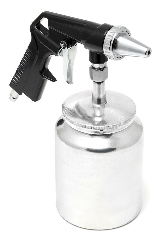 ROCKFORCE Пистолет пескоструйный пневматический с бачком (бачок-1л ,сопло-6.3, расход воздуха 360