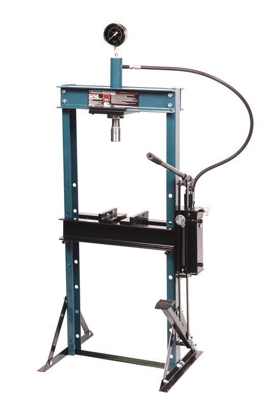 Forsage Пресс гидравлический с манометр.напольный 12т,ручной/ножной привод(рабочая высота:0-900мм,рабочая