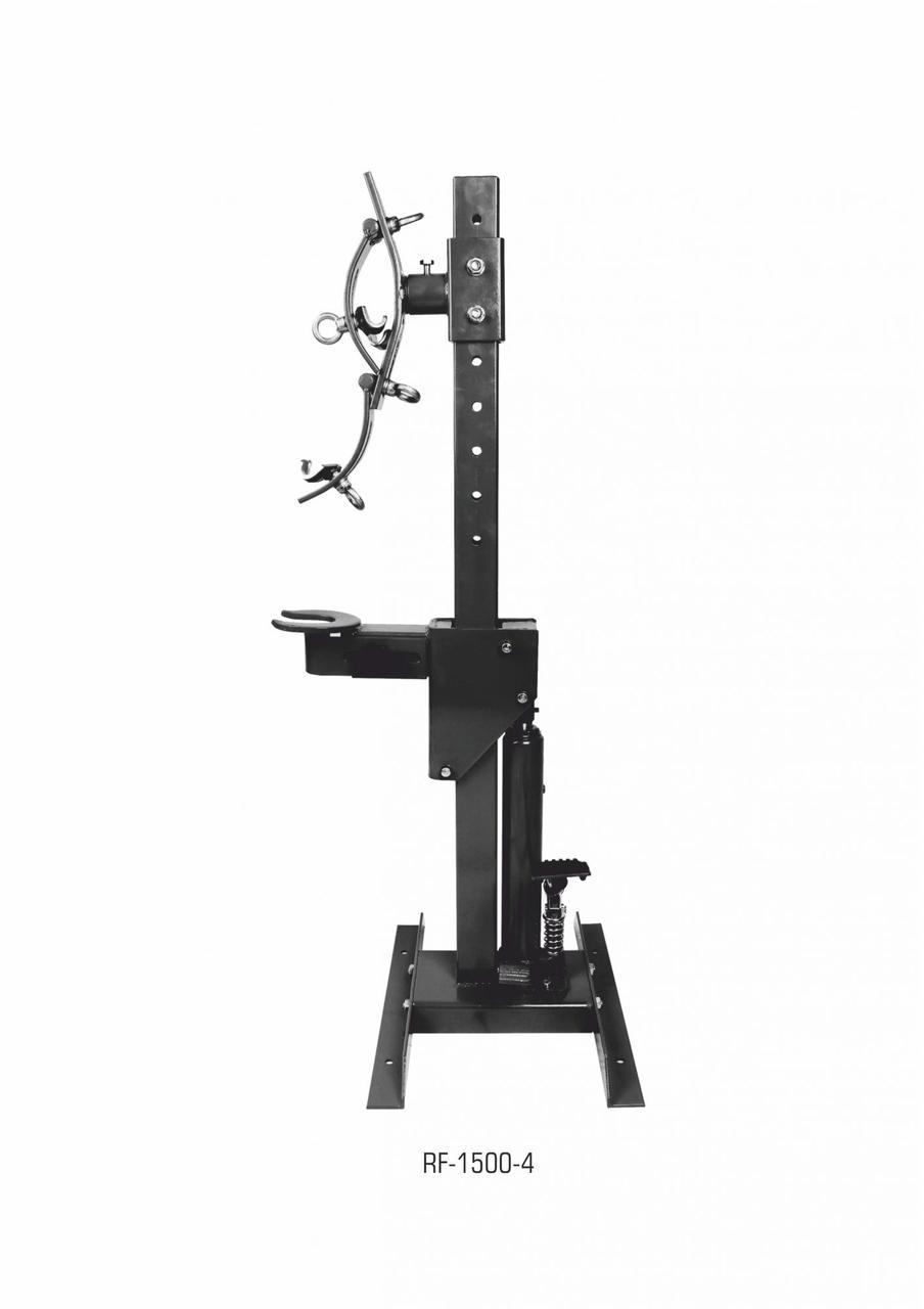 ROCKFORCE Съемник пружин гидравлический напольный (усилие стяжки до 1т рабочий диапазон 210-570мм) ROCKFORCE