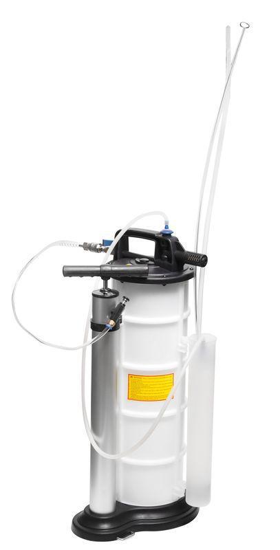 ROCKFORCE Установка для удаления отработанного масла с комплектом щупов пневматическая/ручная (9л, 0-11.9bar)