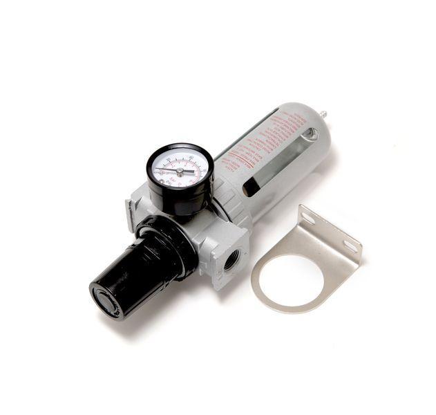 """ROCKFORCE Фильтр влагоотделитель c индикатором давления для пневмосистемы 3/8""""(10bar температура воздуха"""