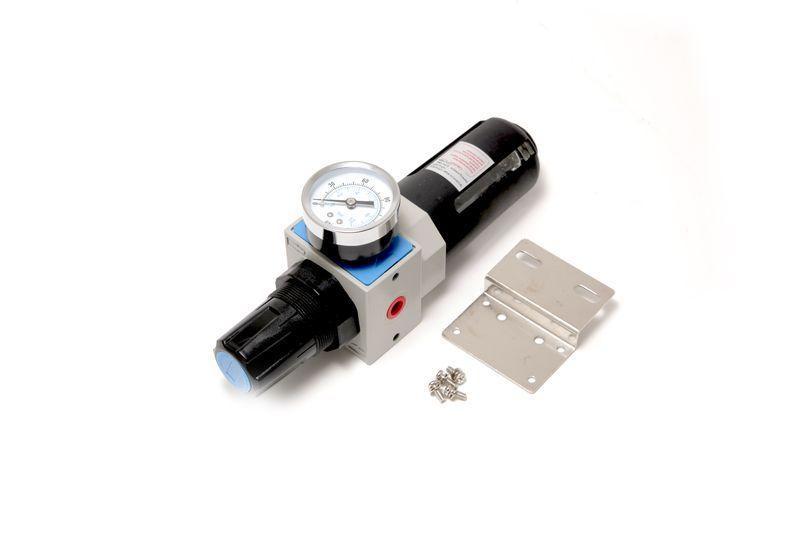 """Forsage Фильтр-регулятор с индикатором давления для пневмосистем """"Profi"""" 1/4"""" (пропускная способность:1300"""