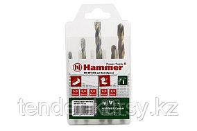 Hammer 37080 Набор сверл Hammer Flex 202-906 DR set No6 (5pcs) 5-8mm  металл\камень, 5шт. Hammer 202-906 11306