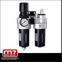 """M7 Блок подготовки воздуха (фильтр + регулятор + маслодобавитель) 1/2"""" M7 SV-2431 150"""