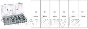 Forsage Гайки самоконтрящиеся, 195 предметов (М3, М4, М5, М6, М8, М10) Forsage F-846 12680