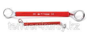 Kingtul kraft Ключ накидной, отогнутый на 75град. в прорезиненной оплетке 30х32мм KingTul kraft KT-203032k
