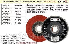 "Yato Круг лепестковый 125мм P40 ""Yato"" Yato YT-83292(G003030 186"