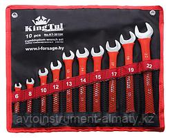 Kingtul kraft Набор ключей комбинированных 10 предметов (6,8,10,12,13,14,15,17,19,22 мм) на полотне KingTul